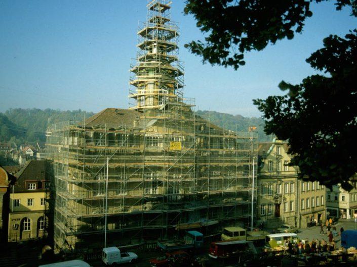 Schwaebisch Hall Rathaus 1984